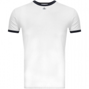 Product Image for Vivienne Westwood Small Orb Ringer T Shirt White