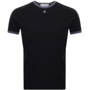Product Image for Vivienne Westwood Small Orb Ringer T Shirt Black