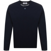 Vivienne Westwood Orb Long Sleeved T Shirt Navy
