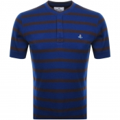 Product Image for Vivienne Westwood Pique Stripe T Shirt Blue