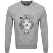 Just Cavalli Crew Neck Logo Sweatshirt Grey