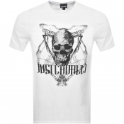 Just Cavalli Skull Logo T Shirt White