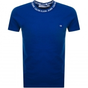 Product Image for Calvin Klein Jeans Crew Neck Logo T Shirt Blue