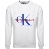 Product Image for Calvin Klein Jeans Monogram Sweatshirt White