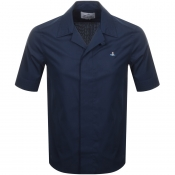 Product Image for Vivienne Westwood Poplin Short Sleeve Shirt Navy