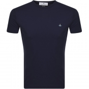 Product Image for Vivienne Westwood Small Orb Logo T Shirt Navy