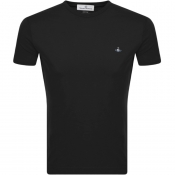Product Image for Vivienne Westwood Small Orb Logo T Shirt Black