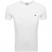 Product Image for Vivienne Westwood Small Orb Logo T Shirt White
