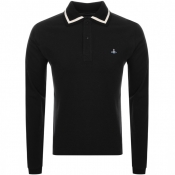 Product Image for Vivienne Westwood Long Sleeve Polo T Shirt Black