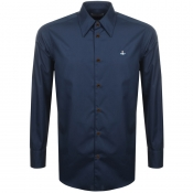 Product Image for Vivienne Westwood Poplin Classic Shirt Navy