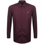 Product Image for Vivienne Westwood Poplin Classic Shirt Burgundy