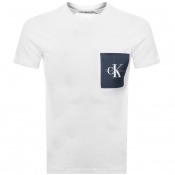 Product Image for Calvin Klein Jeans Monogram Pocket T Shirt White