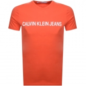 Calvin Klein Jeans Institutional T Shirt Orange