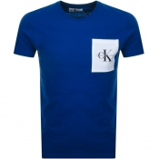 Product Image for Calvin Klein Jeans Monogram Pocket T Shirt Blue