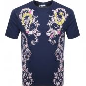 Versace Collection Baroque T Shirt Navy