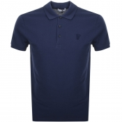 Product Image for Versace Collection Medusa Polo T Shirt Blue