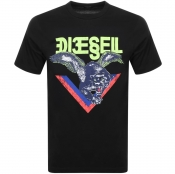 Diesel T Diego A4 Short Sleeved T Shirt Black