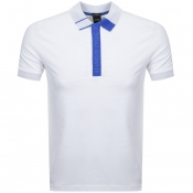 BOSS Athleisure Paule 2 Jersey Polo T Shirt White