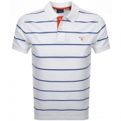 Gant Multi Stripe Rugger Polo T Shirt White