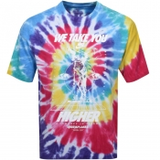 Product Image for Nike Tie Dye Logo T Shirt Blue