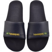 Product Image for Havaianas Brazil Logo Sliders Navy