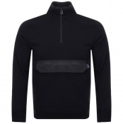 PS By Paul Smith Half Zip Knit Jumper Black