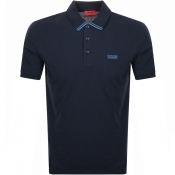 Product Image for HUGO Dyler 193 Polo T Shirt Navy