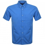 HUGO Ekilio Short Sleeve Shirt Blue