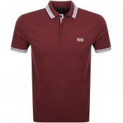 BOSS Athleisure Paddy Polo T Shirt Burgundy