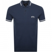 BOSS Athleisure Paul Curved Polo T Shirt Navy
