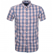 Product Image for Gant Short Sleeved Indigo Check Shirt Blue
