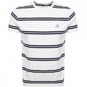 Gant Multi Striped T Shirt Cream