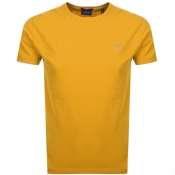 Gant Original T Shirt Yellow