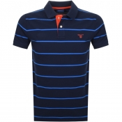 Product Image for Gant Multi Stripe Rugger Polo T Shirt Navy