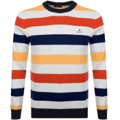 Product Image for Gant Multi Striped Knit Jumper Orange