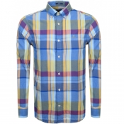 Product Image for Gant Long Sleeved Oxford Madras Check Shirt Blue