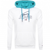 Product Image for Tommy Jeans Logo Hoodie White