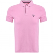 Barbour Beacon Short Sleeved Polo T Shirt Pink