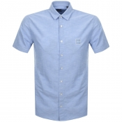 BOSS Casual Short Sleeved Magneton Shirt Blue