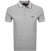 BOSS Athleisure Paddy Polo T Shirt Grey