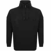 BOSS Athleisure Salboa Half Zip Sweatshirt Black