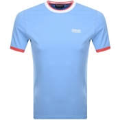 Product Image for Barbour International Small Logo T Shirt Blue