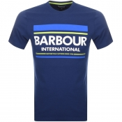 Barbour International Control Logo T Shirt Blue