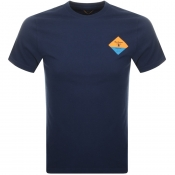 Barbour Beacon Small Diamond T Shirt Navy