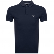 Barbour Beacon Short Sleeved Polo T Shirt Navy