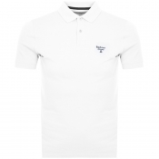 Barbour Beacon Short Sleeved Polo T Shirt White