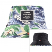 Tommy Hilfiger Reversible Bucket Hat Blue