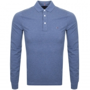 Tommy Hilfiger Long Sleeved Polo T Shirt Navy