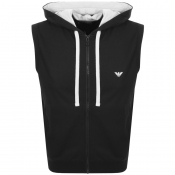 Product Image for Emporio Armani Full Zip Sleeveless Hoodie Black