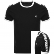 Product Image for Fred Perry Taped Ringer T Shirt Black